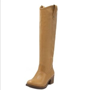 Rampage Tall Riding Boots sz 10 Tan NEW #638